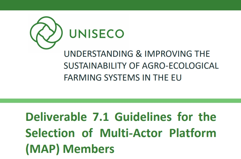 Deliverable 7.1 Guidelines for the Selection of Multi-Actor Platform (MAP) Members published