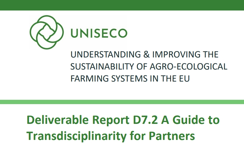 D7.2 -  A Guide to Transdisciplinarity for Partners published