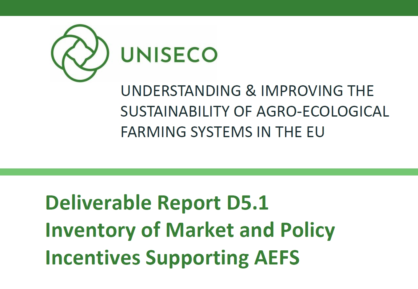D5.1 Inventory of Market and Policy Incentives Supporting AEFS published