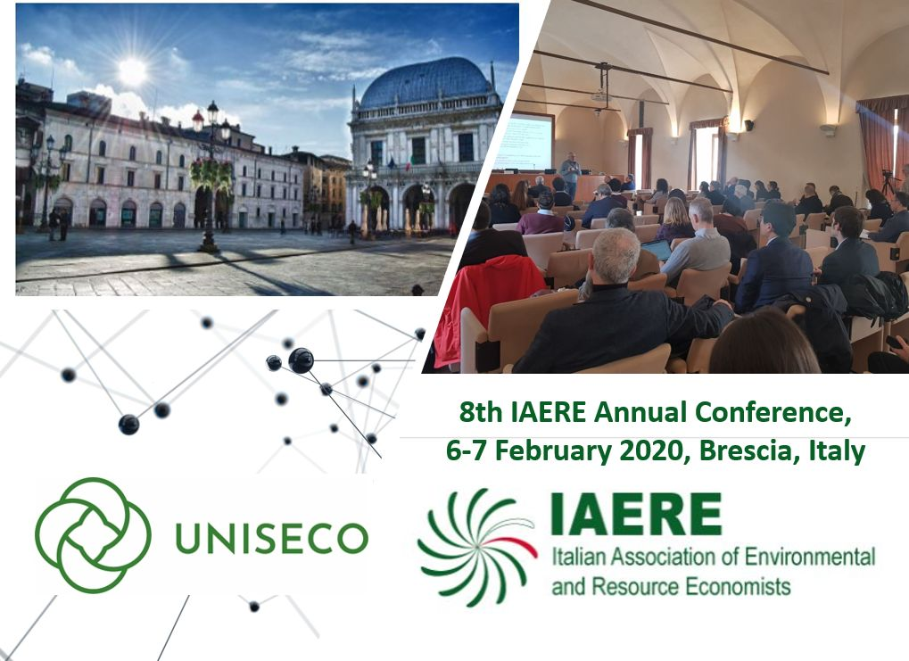 UNISECO at the 8th IAERE Annual Conference, 6-7 February 2020, Brescia, Italy.