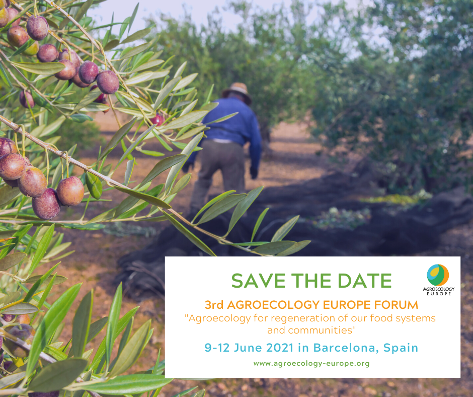 UPCOMING: 3rd Agroecology Europe Forum, 9-12 June 2021, Barcelona, Spain