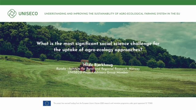 What is the most significant social science or the uptake of agro-ecology approaches?